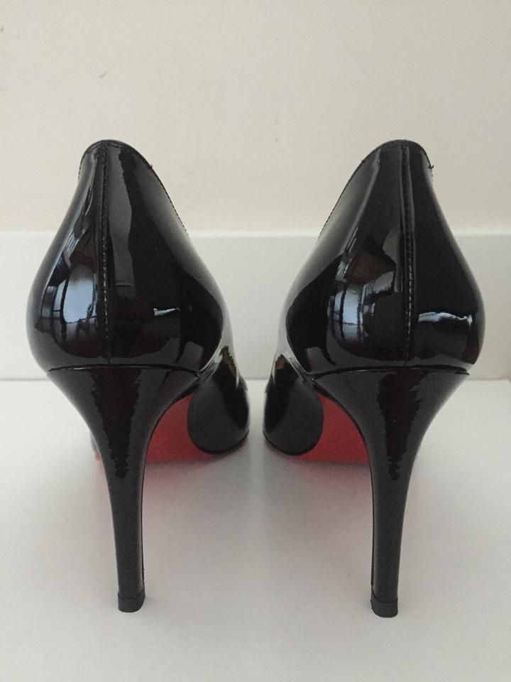 Pigalle Christian Patent 85mm Black Louboutin Pumps qnvWYzn