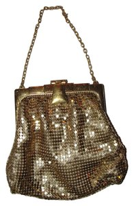 Whiting & Davis Mesh Wristlet in gold