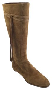 Jimmy Choo Knee High Suede High Rise Tan Boots