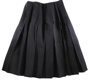 J.W.Anderson Pleated Distressed Skirt Black
