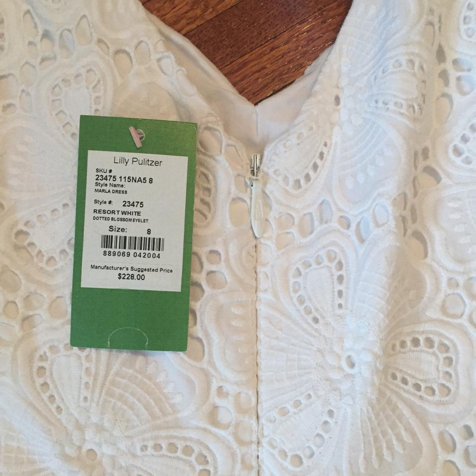 891f4fadf45eb8 Lilly Pulitzer White Marla Mid-length Cocktail Dress Size 8 (M ...