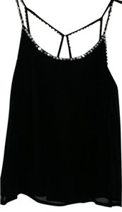 Guess By Marciano Top BLACK W RHINESTONES/FAUX CRYSTALS