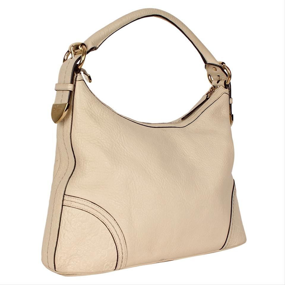 cac7f531f2ab Gucci Abbey Signoria Large 4896 White Leather Hobo Bag - Tradesy