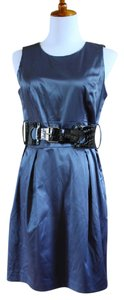 BCX Belted Sleeveless Casual Date Office Dress
