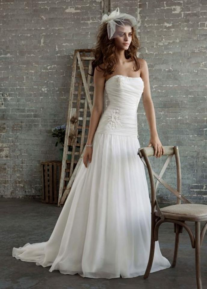 Galina white chiffon pk3285 wedding dress size 0 xs Wedding dress xs