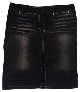 Laundry by Shelli Segal Skirt Black with gold stitching