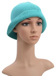 Malo Malo Blue Knitted Bucket Hat One Size