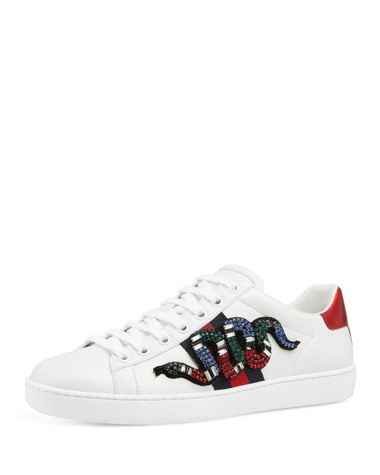 ee8ab010d85 Gucci White Women s Ace Embroidered Sneakers Sneakers Size EU 36 ...