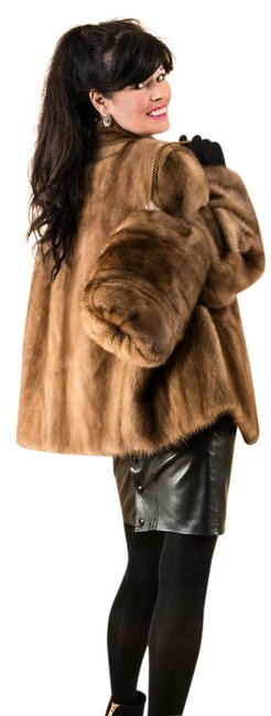 Item - Brown Mink Jacket Pelts with Muff Excellent Like New Coat Size 16 (XL, Plus 0x)