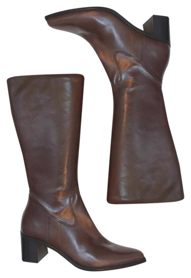 f3b34d215821e Enzo Angiolini Brown Eacedel Boots Booties Size US 6 Regular (M