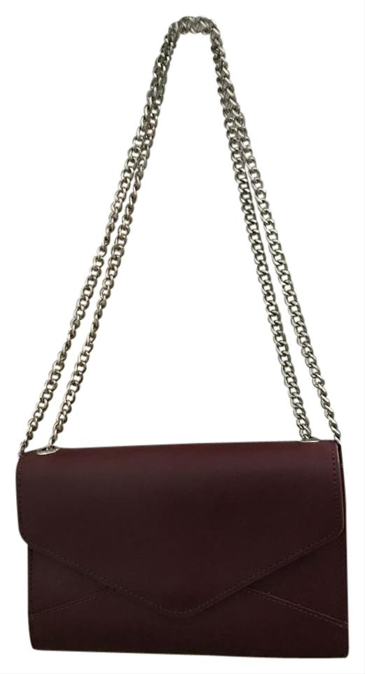 a9b82041fa33 Barneys New York Hannah Chain Wallet Handbag Dark Red / Burgundy ...