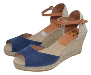 Kanna Espadrille Wedge Comfortable Spain Navy Sandals