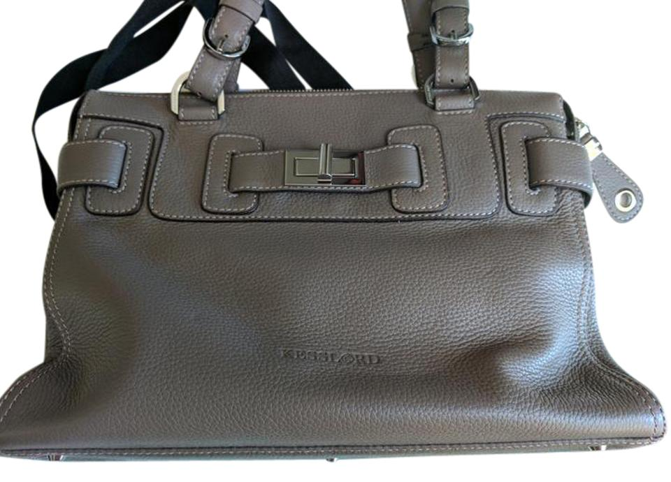 Kesslord Handbag Leather Paris Tote In Gray