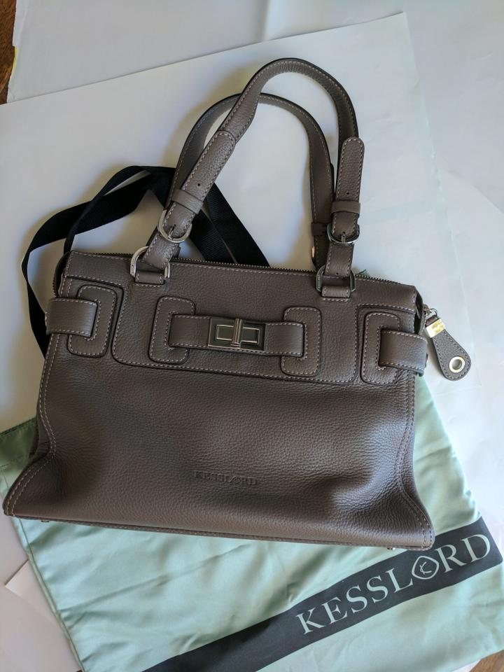 Kesslord Handbag Leather Paris Tote In Gray 1234567