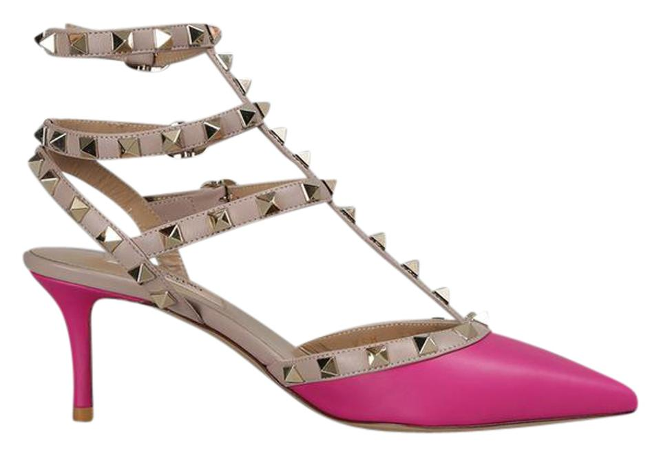 valentino mega clearance brand new pink rockstud kitten heels fuchsia pumps on sale 43 off. Black Bedroom Furniture Sets. Home Design Ideas
