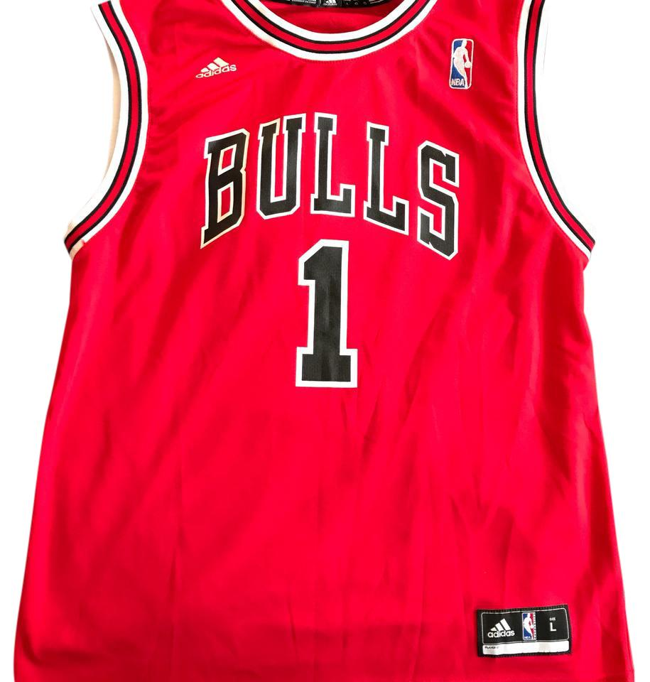 best sneakers 5e147 83737 adidas Red Jersey Derrick Rose #1 Activewear Gear Size 12 (L)