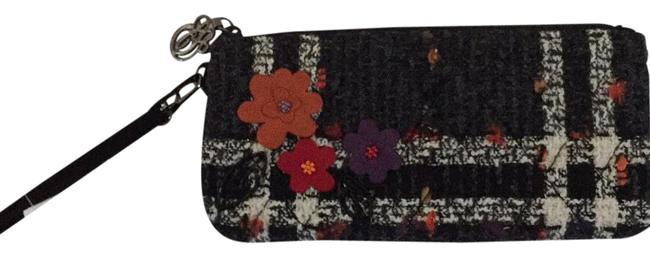 Item - Luxe Collection Black Red Cream Fabric Wristlet