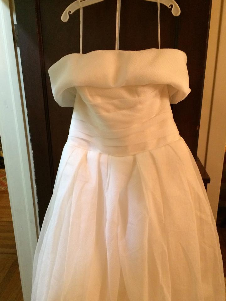White by vera wang 351178 wedding dress on sale 59 off for Vera wang wedding dresses sale