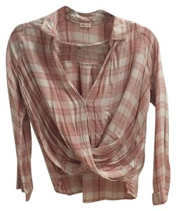 Hollister Button Down Shirt Pink & White