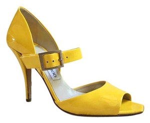 Jimmy Choo Buckle yellow Pumps