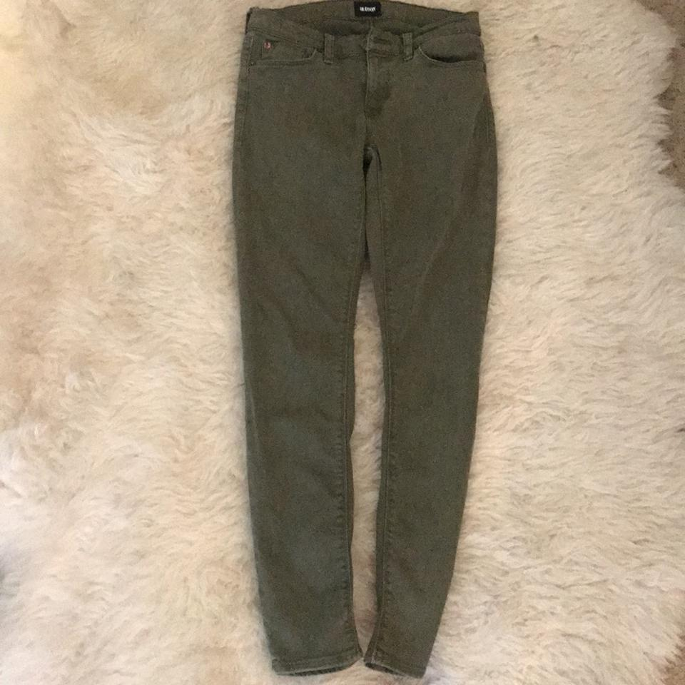 668029db51f Hudson Army Green Krista Ankle Super Skinny Jeans Size 25 (2, XS) - Tradesy