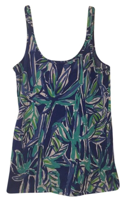 Item - White Combat Blue Green Activewear Top Size 12 (L)