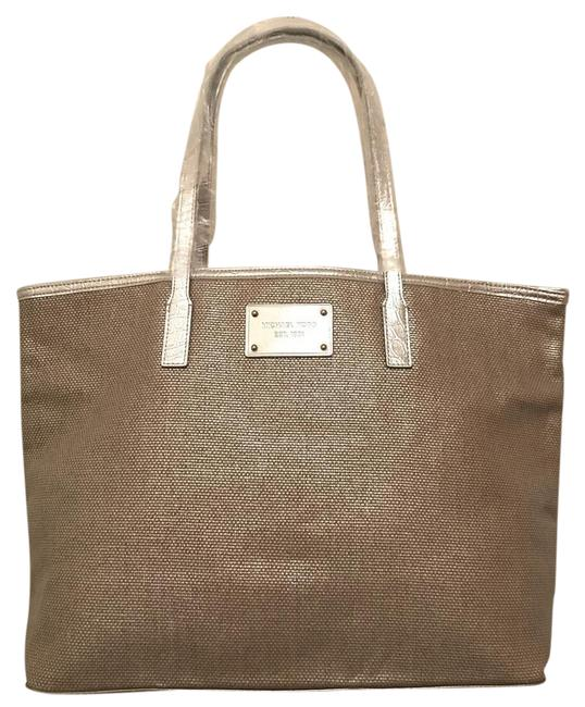 Item - New Never Worn Silver Gold Canvas Tote