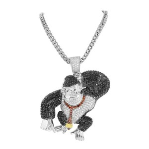 Master Of Bling Video Game Ape Pendant Red Black White Stainless Steel Unique New With