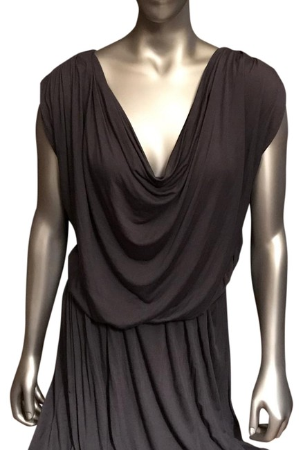Item - Gray Deletta Draped Mid-length Night Out Dress Size 6 (S)
