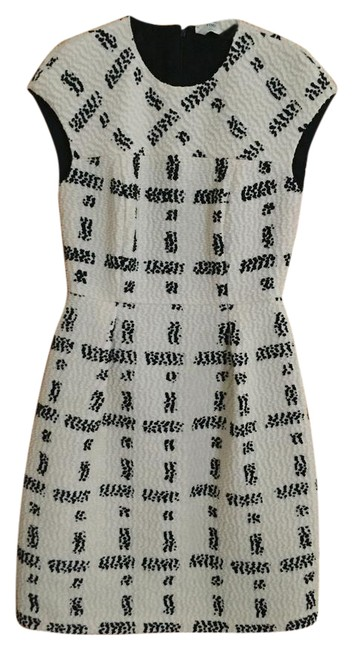 Item - Black and Cream Cocktail / / / Formal Mid-length Work/Office Dress Size 4 (S)