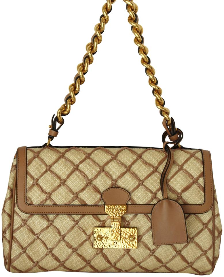 3fdb7f9282 Marc Jacobs New Baroque Faye Quilting Gold Quilted Cream Handbag ...