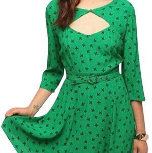 Cooperative short dress green on Tradesy