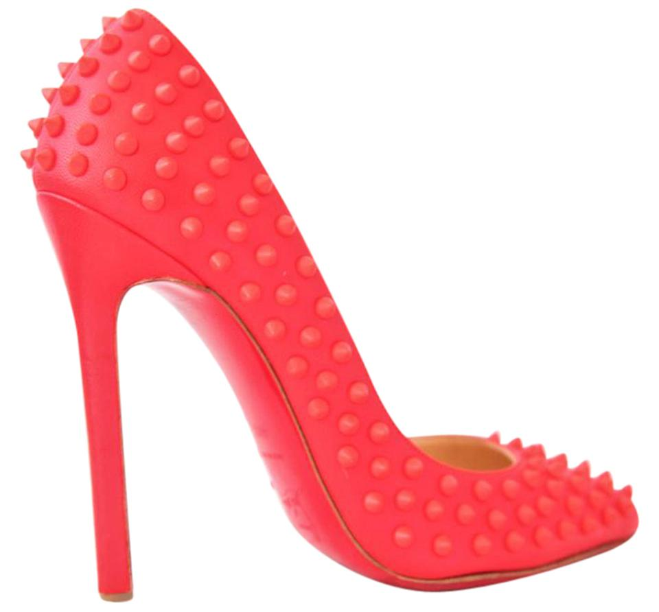 963cf0e39bac Christian Louboutin Rose 40.5it Pigalle Spike Leather High Heel Lady Red  Sole Toe Studded Pumps