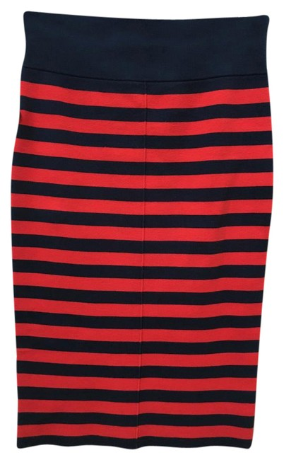 Item - Navy and Red Full Needle Striped Pencil Skirt Size 8 (M, 29, 30)