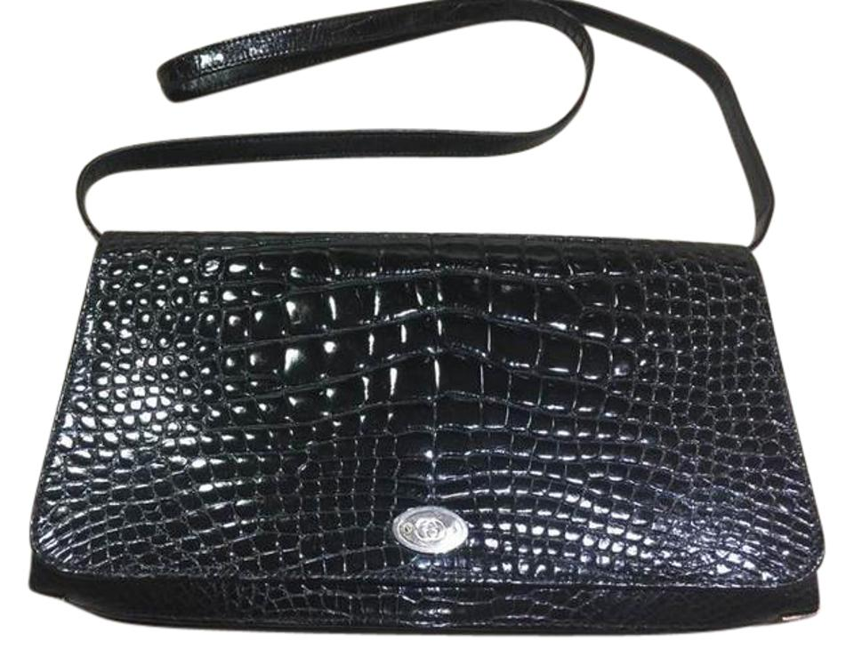 1a344fa128a3 Gucci Clutch Vintage Crocodile Purse Black Alligator Shoulder Bag ...