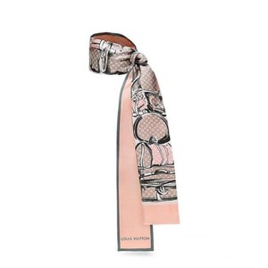 Louis Vuitton New!! BANDEAU scarf silk in rose poudre