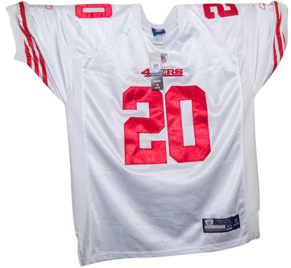 big sale d9fea 65f97 Reebok White and Red Jersey Brian Westbrook #20 San Francisco 49ers Blouse  Size OS (one size)
