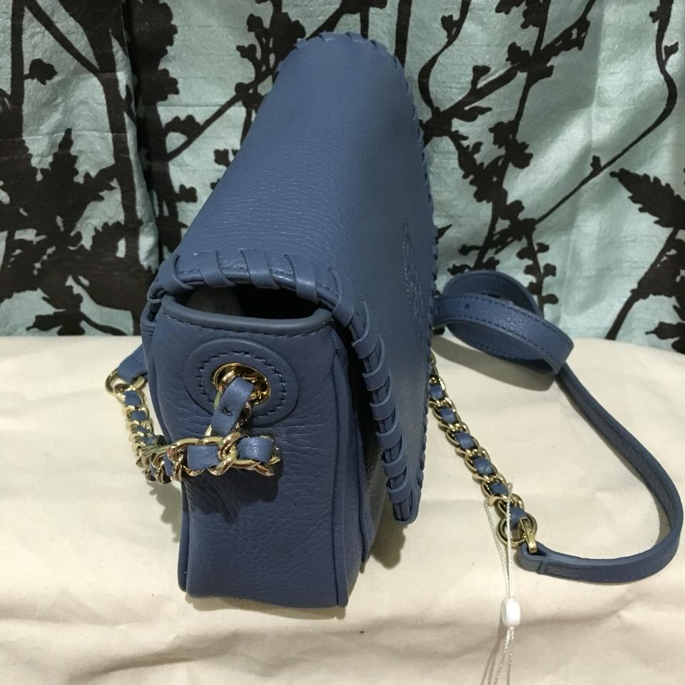 831c3702420 Tory Burch Crossbody Mini Front Flap Quilted Marion Blue Messenger Bag  Image 9. 12345678910