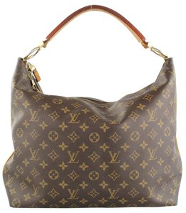 Louis Vuitton Lv Sully Mm Canvas Hobo Bag