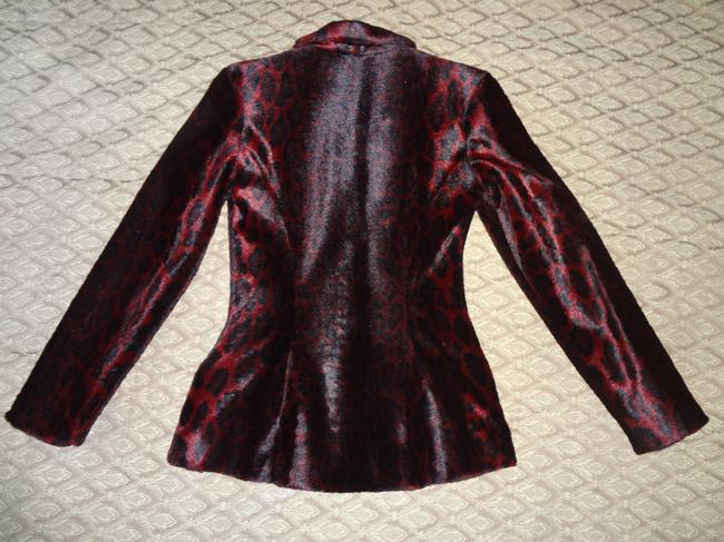 Betsey Johnson Black/Raspberry Blazer