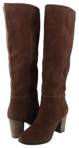 Cole Haan Cassidy Tall Suede Womens Designer Knee High 7.5 Chestnut Boots