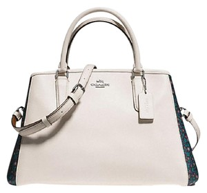 Coach Carryall 57492 57631 Margot Satchel in ANTIQUE NICKEL/CHALK