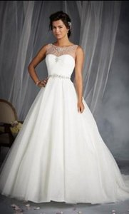 Alfred Angelo White Silver Shimmer Tulle Disney Princess Cinderella 244 Formal Wedding Dress Size 12 (L)