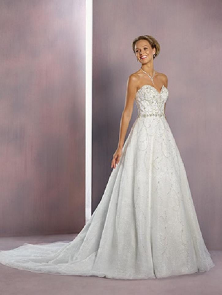 Alfred Angelo White/Silver Shimmer Tulle Disney Princess ...