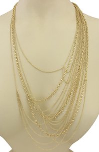 Gucci Multi-Strand Marina Rolo Horsebit Clasp 18k Gold Necklace