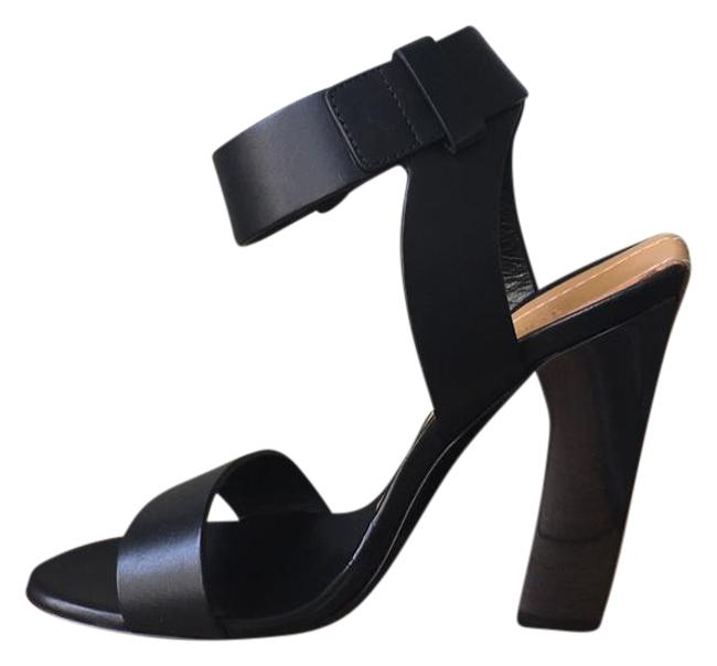 Item - Black Brown New Leather Ankle-strap 105mm Sandals Size EU 39.5 (Approx. US 9.5) Regular (M, B)