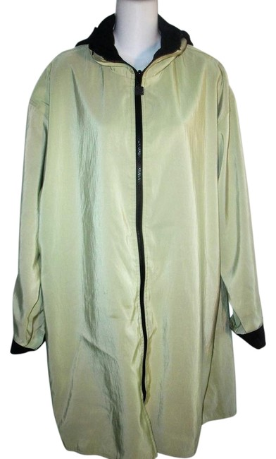 Item - Green and Black Hooded Reversible Coat Size 12 (L)