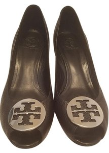 Tory Burch Pump Sally Leather Black Wedges