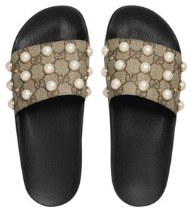 5882eb58c5a Gucci Sandals. Gucci Gg Supreme Slide with Pearls Sandals Size US 9 Regular  (M ...