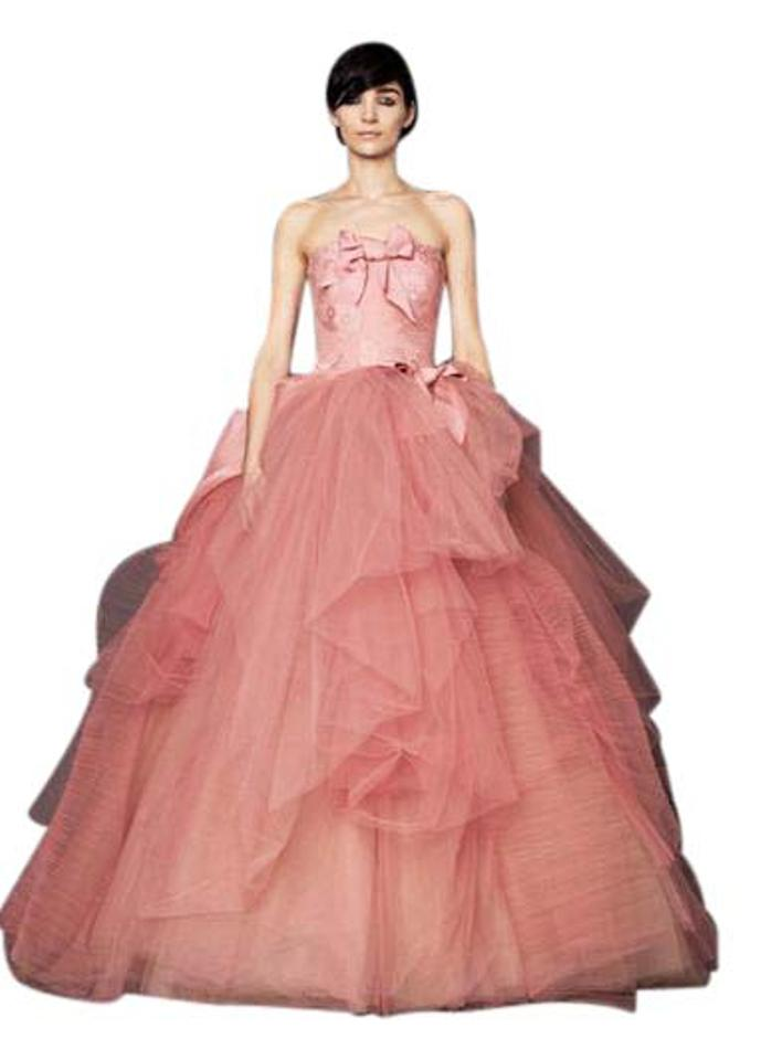 32ab04c7d Vera Wang Pink Silk Chantilly Lace Nora Vintage Wedding Dress. Street Size:  2 ...